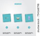 flat icons bulletproof  firearm ...   Shutterstock .eps vector #754168798