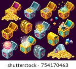 set of  cartoon isometric...