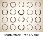 collection of twenty circular... | Shutterstock .eps vector #754172500