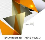 geometrical abstract triangle... | Shutterstock .eps vector #754174210