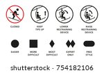 ski lift  elevator manuals ... | Shutterstock .eps vector #754182106
