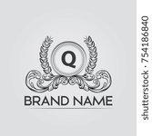 q ornamental logo | Shutterstock .eps vector #754186840