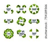 symbols of virtual reality. 360 ... | Shutterstock .eps vector #754189366