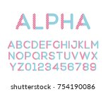vector of modern stylized font. ... | Shutterstock .eps vector #754190086