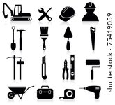 worker tools icons | Shutterstock .eps vector #75419059