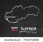slovakia map  vector drawing on ...   Shutterstock .eps vector #754191808
