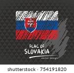 slovakia flag  vector sketch...   Shutterstock .eps vector #754191820