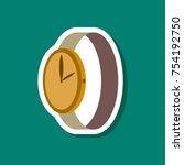paper sticker fashion clothes... | Shutterstock .eps vector #754192750