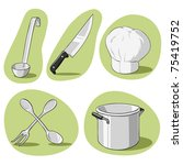 Vector illustration. Set of hand drawn kitchenware. - stock vector