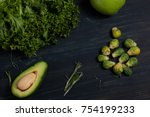 full of vitamins. top view of... | Shutterstock . vector #754199233