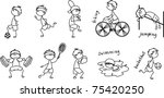 cartoon sport icon | Shutterstock .eps vector #75420250
