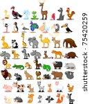 extra large set of animals...   Shutterstock .eps vector #75420259