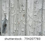 peeling painted wood surface. | Shutterstock . vector #754207783