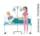 chemotherapy for woman. sick... | Shutterstock .eps vector #754209868