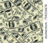 us dollar banknote vector... | Shutterstock .eps vector #754210678