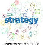 text strategy. finance concept .... | Shutterstock . vector #754212010