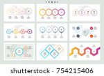 set of infographic elements....   Shutterstock .eps vector #754215406