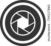 photo lens icon   dark circle... | Shutterstock .eps vector #754217860