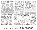 set of vector graphic elements... | Shutterstock .eps vector #754220080