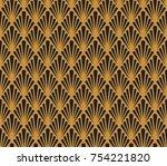 vector floral art nouveau... | Shutterstock .eps vector #754221820
