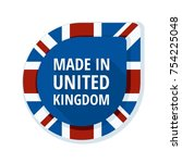 made in united kingdom of great ... | Shutterstock .eps vector #754225048