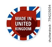 made in united kingdom of great ... | Shutterstock .eps vector #754225054