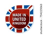 made in united kingdom of great ... | Shutterstock .eps vector #754225063