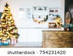 defocused background living... | Shutterstock . vector #754231420