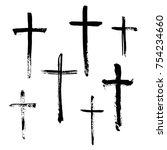 christian religious symbol... | Shutterstock .eps vector #754234660