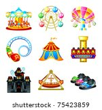 colorful theme park attraction... | Shutterstock .eps vector #75423859