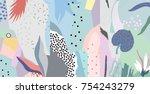 creative universal artistic... | Shutterstock .eps vector #754243279