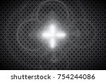 abstract front sun lens flare... | Shutterstock .eps vector #754244086