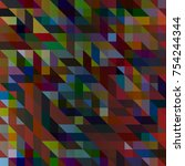 abstract color seamless pattern ... | Shutterstock .eps vector #754244344
