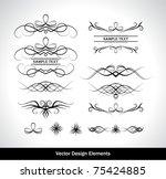vector set of design elements.... | Shutterstock .eps vector #75424885
