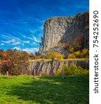 view on the famous 'hegyestu'... | Shutterstock . vector #754252690