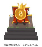 bitcoin   the king of all...   Shutterstock .eps vector #754257466