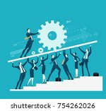 business team support the base...   Shutterstock .eps vector #754262026