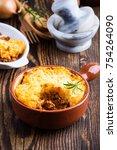 shepherd's pie  traditional...   Shutterstock . vector #754264090