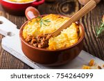 shepherd's pie  traditional... | Shutterstock . vector #754264099