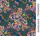 gentle colored beautiful... | Shutterstock .eps vector #754264333