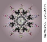 vector. snowflake vector icon... | Shutterstock .eps vector #754265524