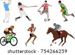 various sportsmen detailed... | Shutterstock .eps vector #754266259