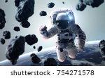 science fiction space wallpaper ... | Shutterstock . vector #754271578