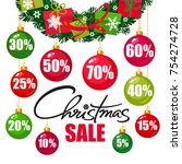 christmas sale poster. discount ...