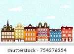 urban village christmas...   Shutterstock .eps vector #754276354