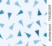 seamless christmas pattern with ... | Shutterstock .eps vector #754282309
