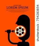 movie and film modern retro... | Shutterstock .eps vector #754283854
