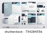 stationery corporate brand... | Shutterstock .eps vector #754284556