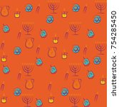 hanukkah traditional jewish... | Shutterstock .eps vector #754285450