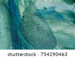 abstract watercolor painted... | Shutterstock . vector #754290463